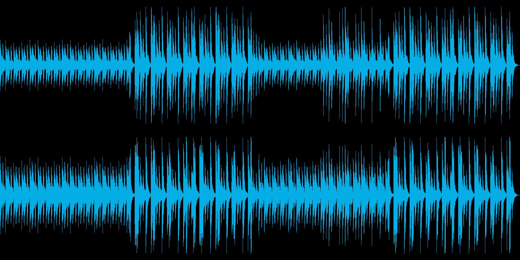 のんびりとしたBGM_No682_1の再生済みの波形