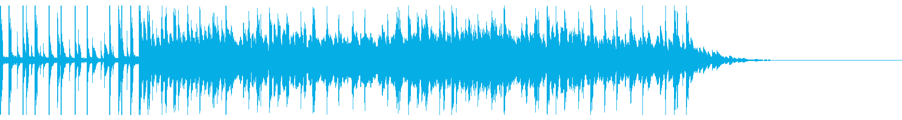 テクノな感じのシークエンスの再生済みの波形
