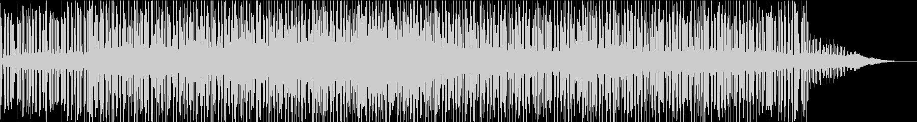 神妙な雰囲気のアンビエント系BGMの未再生の波形