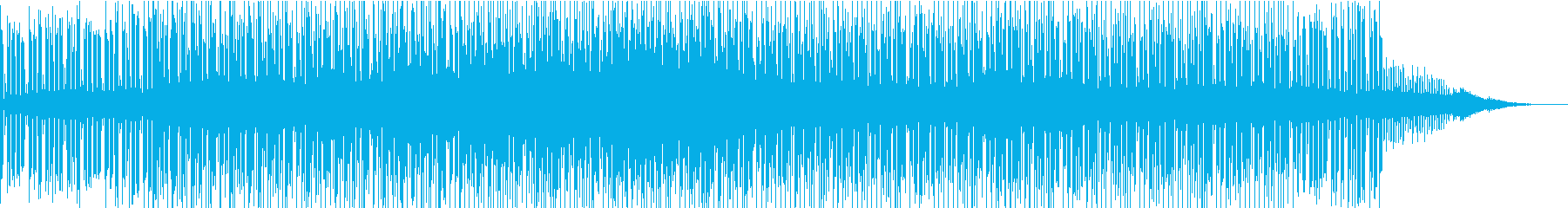 神妙な雰囲気のアンビエント系BGMの再生済みの波形