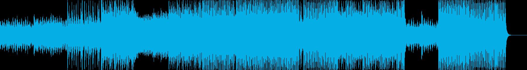 幻想的な雰囲気のファンタジーテクノの再生済みの波形