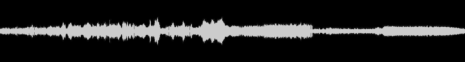 蝉の未再生の波形