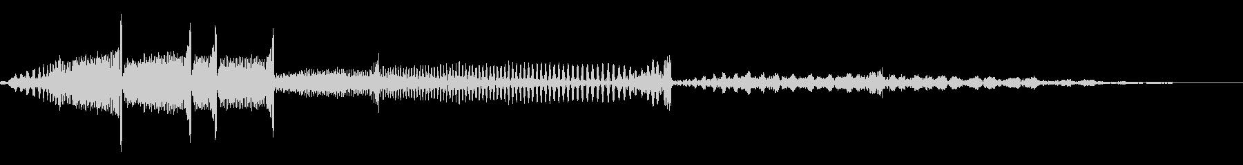 レコードのバックスピン音(DJ)の未再生の波形