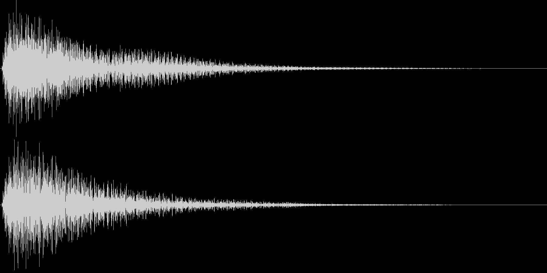 電子音_選択未決定音の未再生の波形