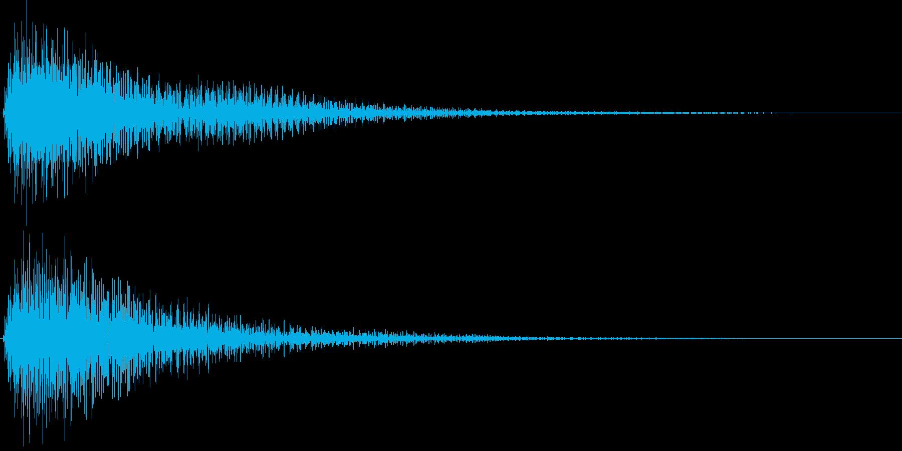 電子音_選択未決定音の再生済みの波形