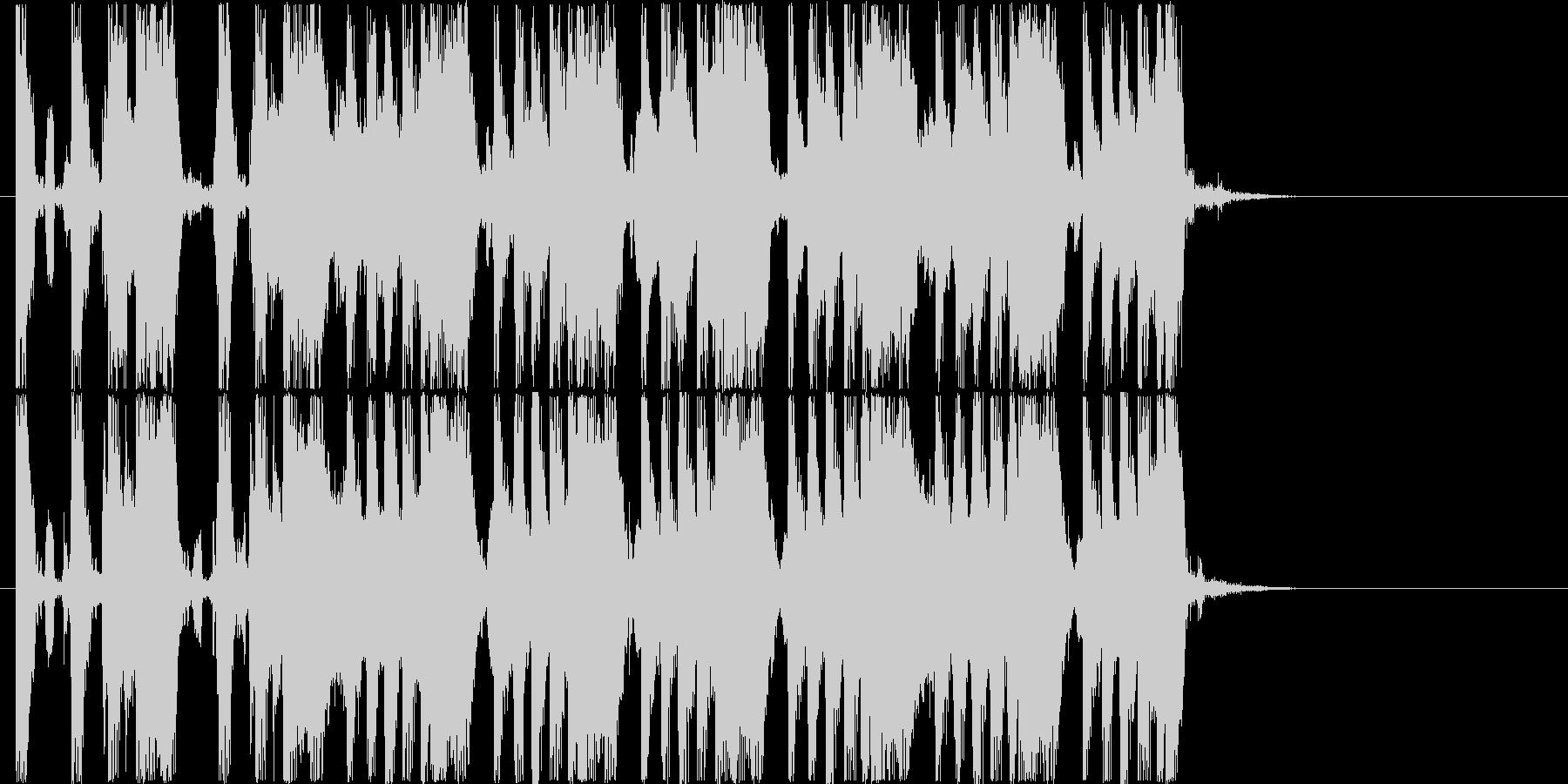 ワイルドなギターが印象的なロック調の曲の未再生の波形