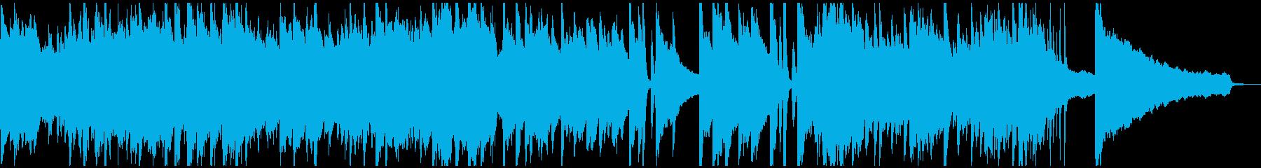 ピアノのおしゃれなウェディングソングの再生済みの波形