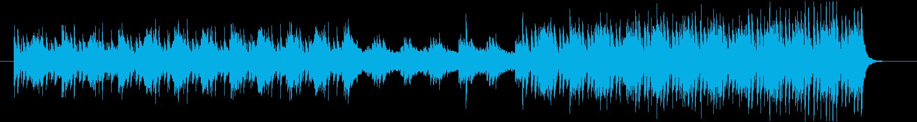 ギター、シンセサイザー、パッド、ピ...の再生済みの波形
