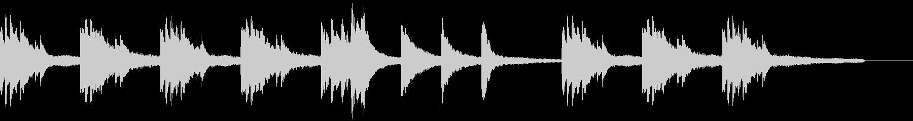 ゲームアニメCM向け静かなピアノソロの未再生の波形