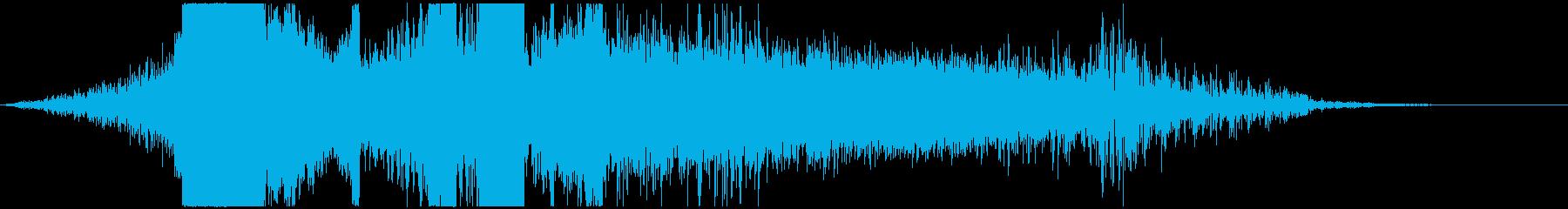 【映画】 インパクト_25 タイトルロゴの再生済みの波形