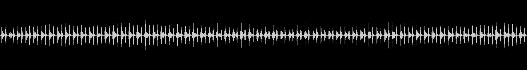 時間の経過-クロック刻みの未再生の波形