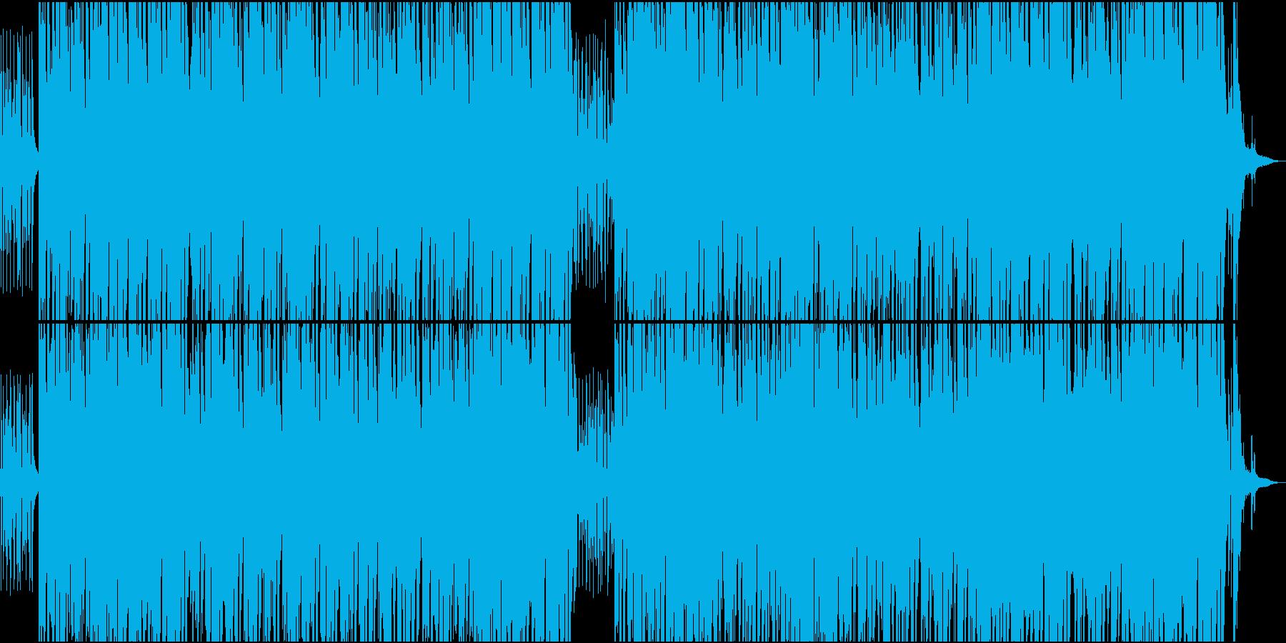 ゆっくりしたアコースティックなボサノバの再生済みの波形