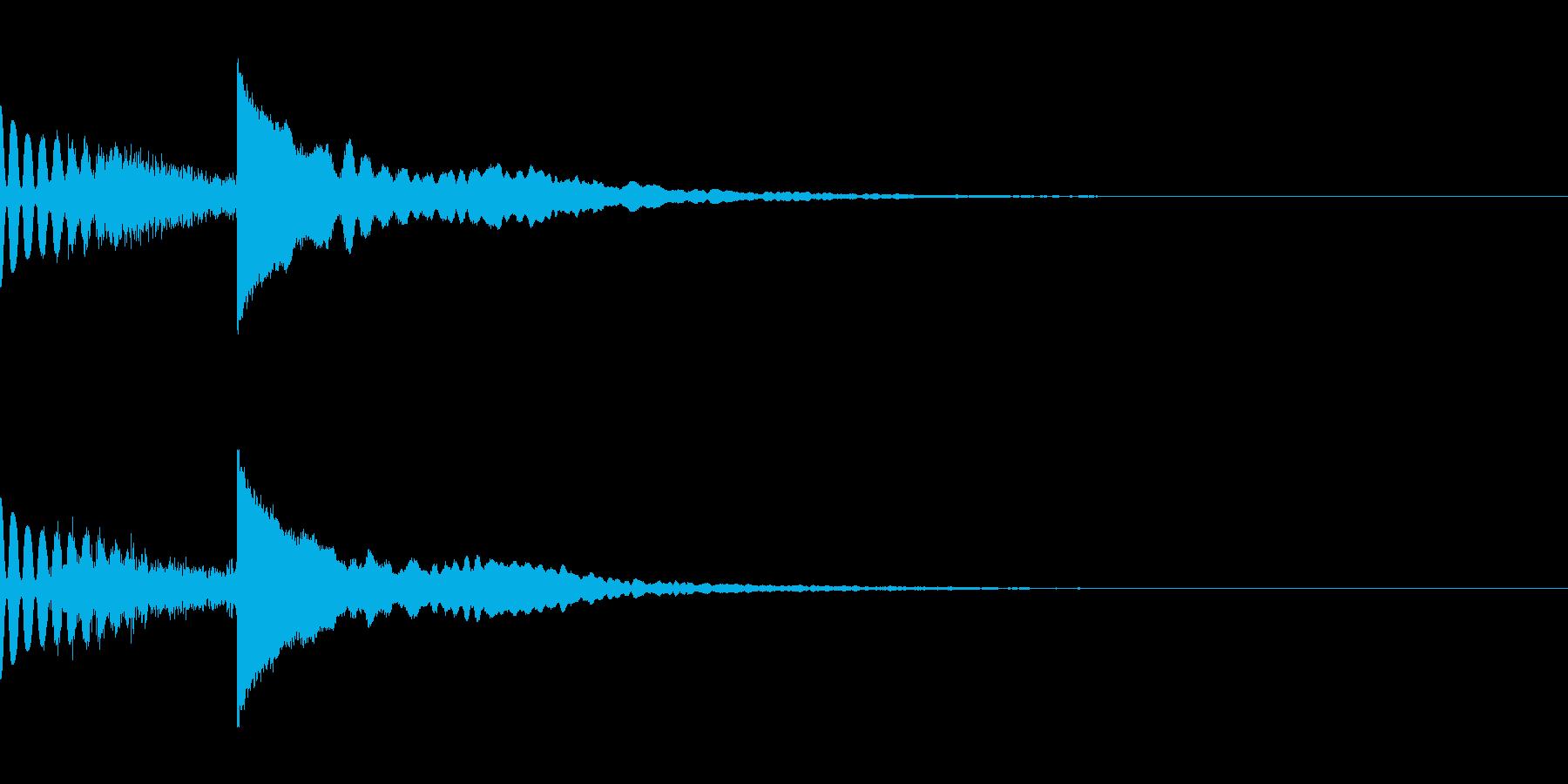 ホラーだけど神秘的な効果音(怖い/綺麗2の再生済みの波形