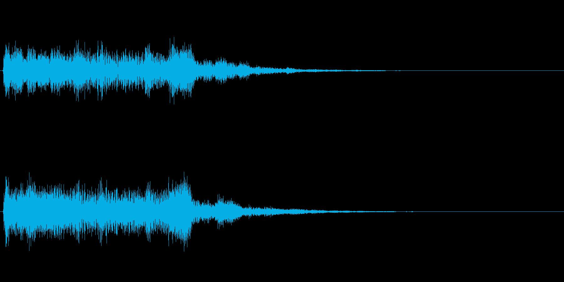アジア風、琴 ジングルの再生済みの波形