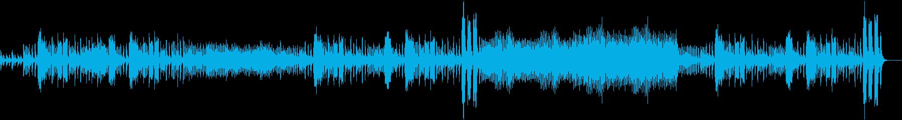 フルートがリズミカルなオーケストラ曲の再生済みの波形