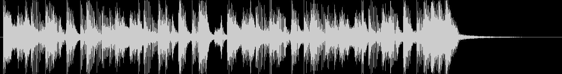 ギターカッティングのファンキーなジングルの未再生の波形