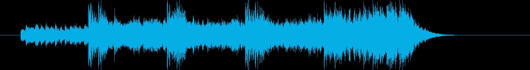 神秘的で壮大なエレキロックジングルの再生済みの波形