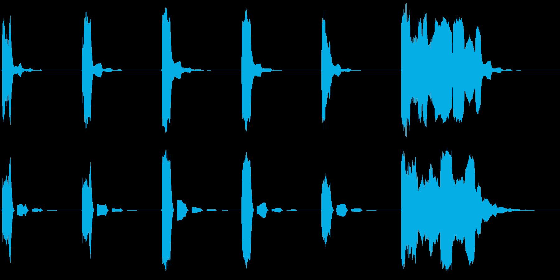 ピッピッピッピッピッポーンの再生済みの波形
