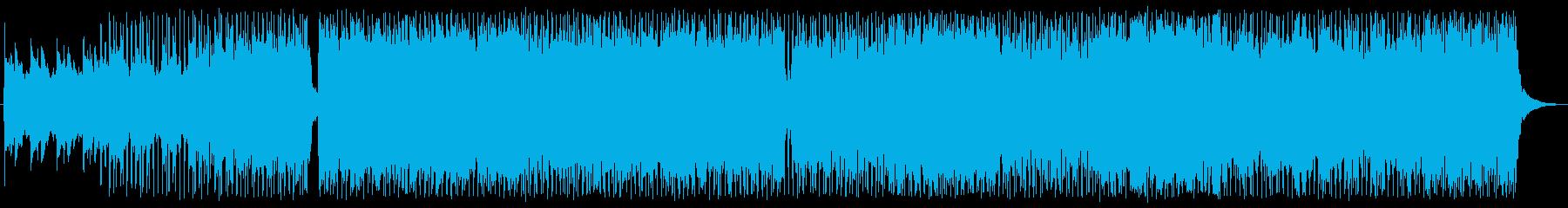 重厚 アクション 技術的な エレキギターの再生済みの波形