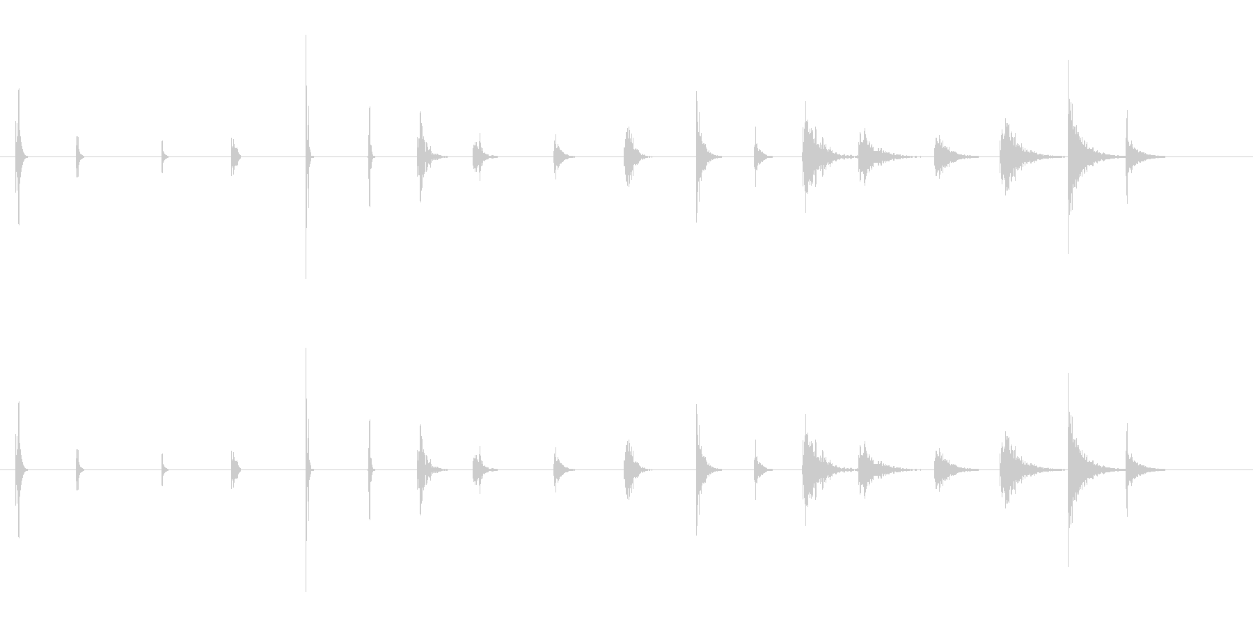 ピープ音とビープ音2の未再生の波形