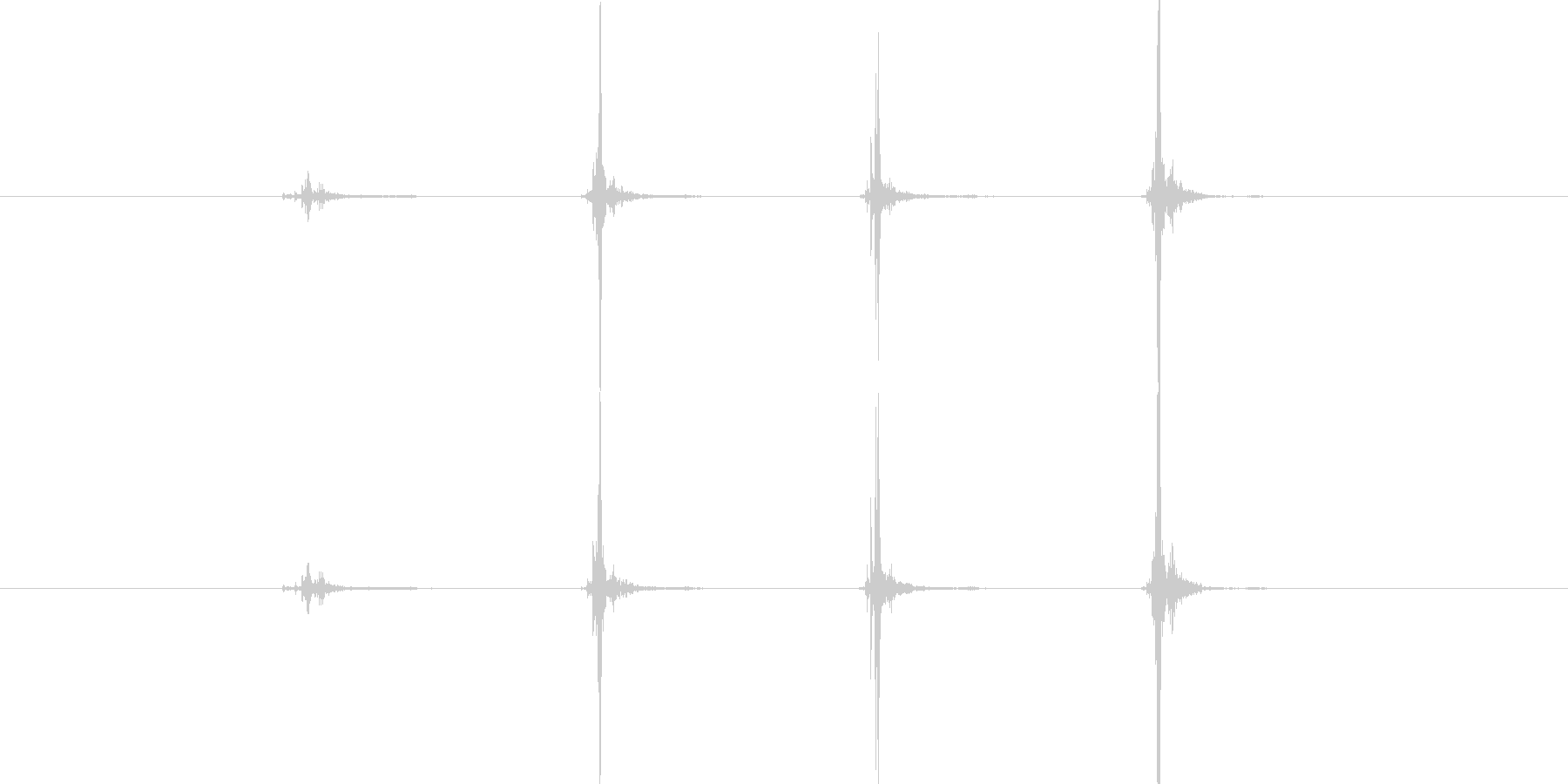 【生音】触れる・布 - 2 「ぱんぱん…の未再生の波形
