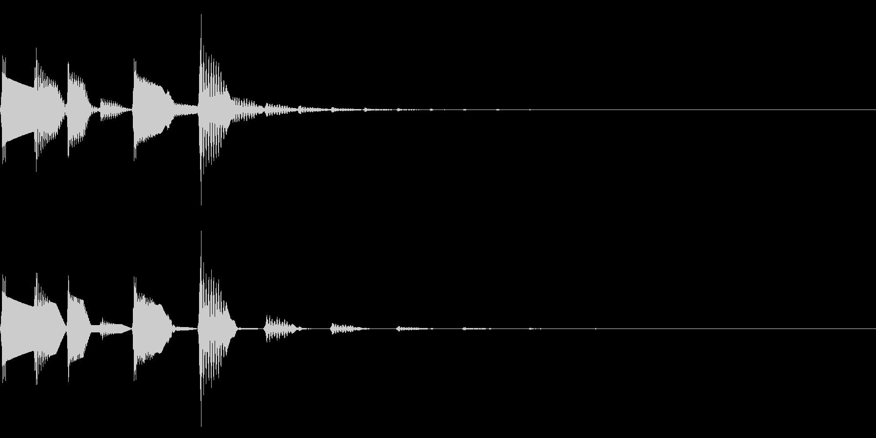 ピコポコ(ファミコンほのぼのアイキャッチの未再生の波形