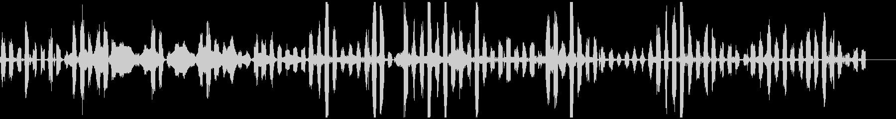 モンスター 妖精 足音 低音 ぶおんの未再生の波形