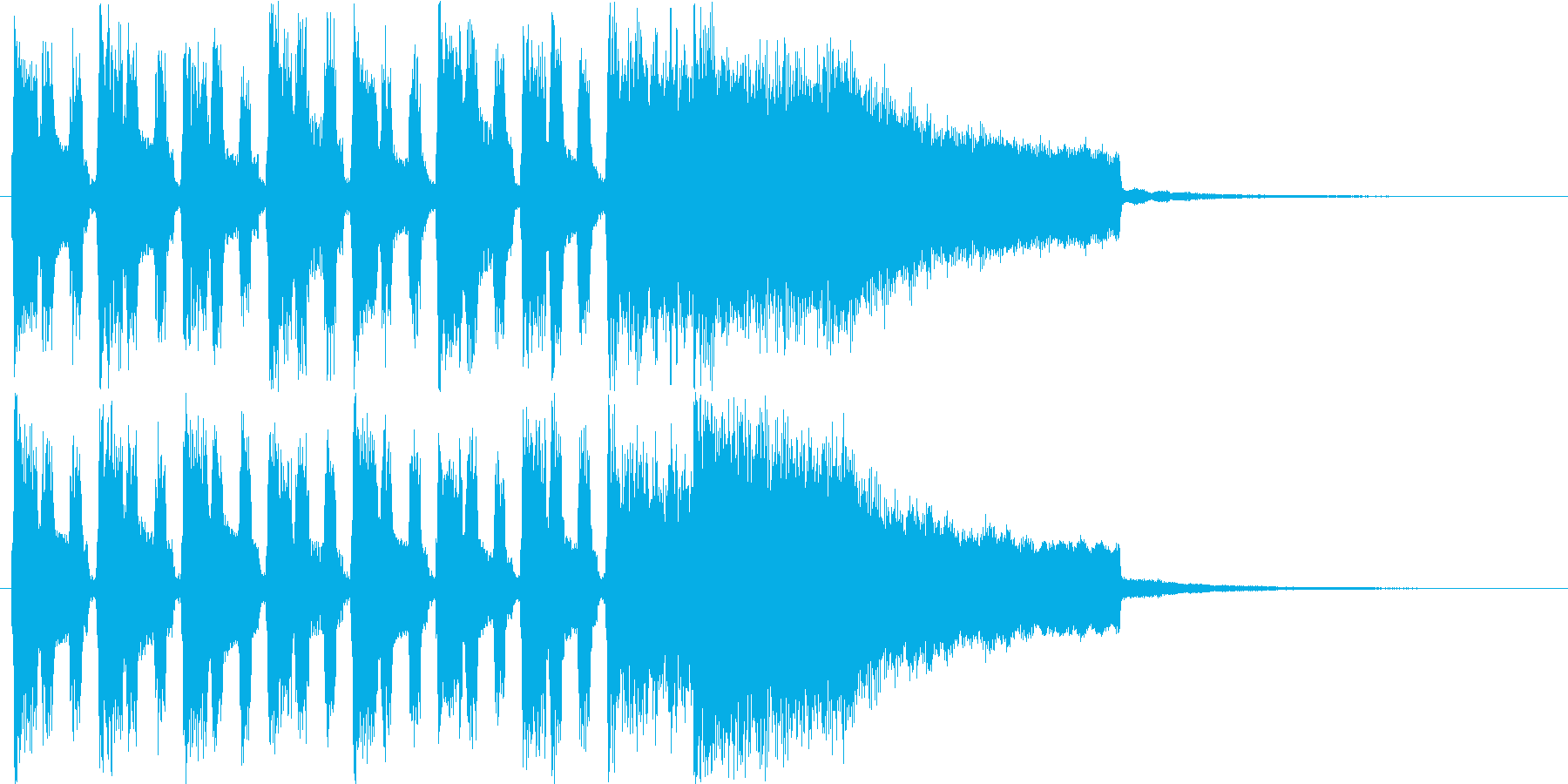 楽しげなシンセポップスの再生済みの波形