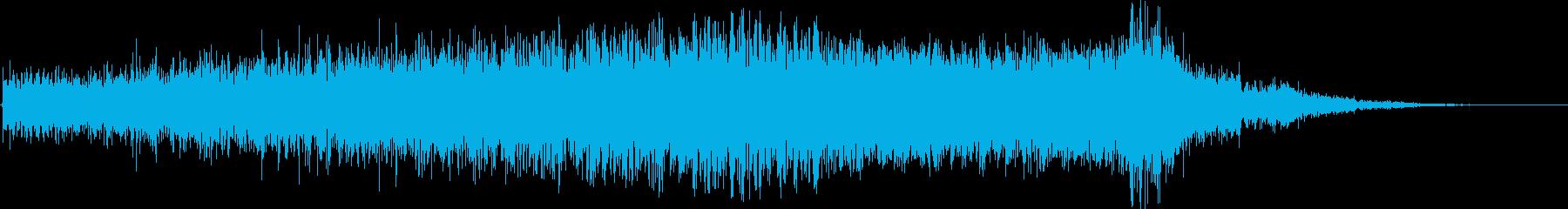 スローフィルターフィルターインと高...の再生済みの波形