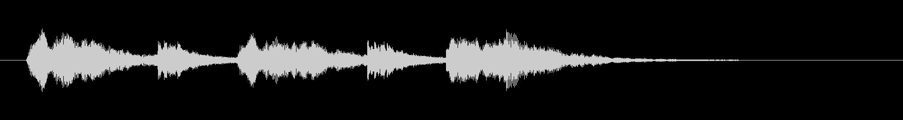 コーラスと鉄琴のアンサンブルの未再生の波形