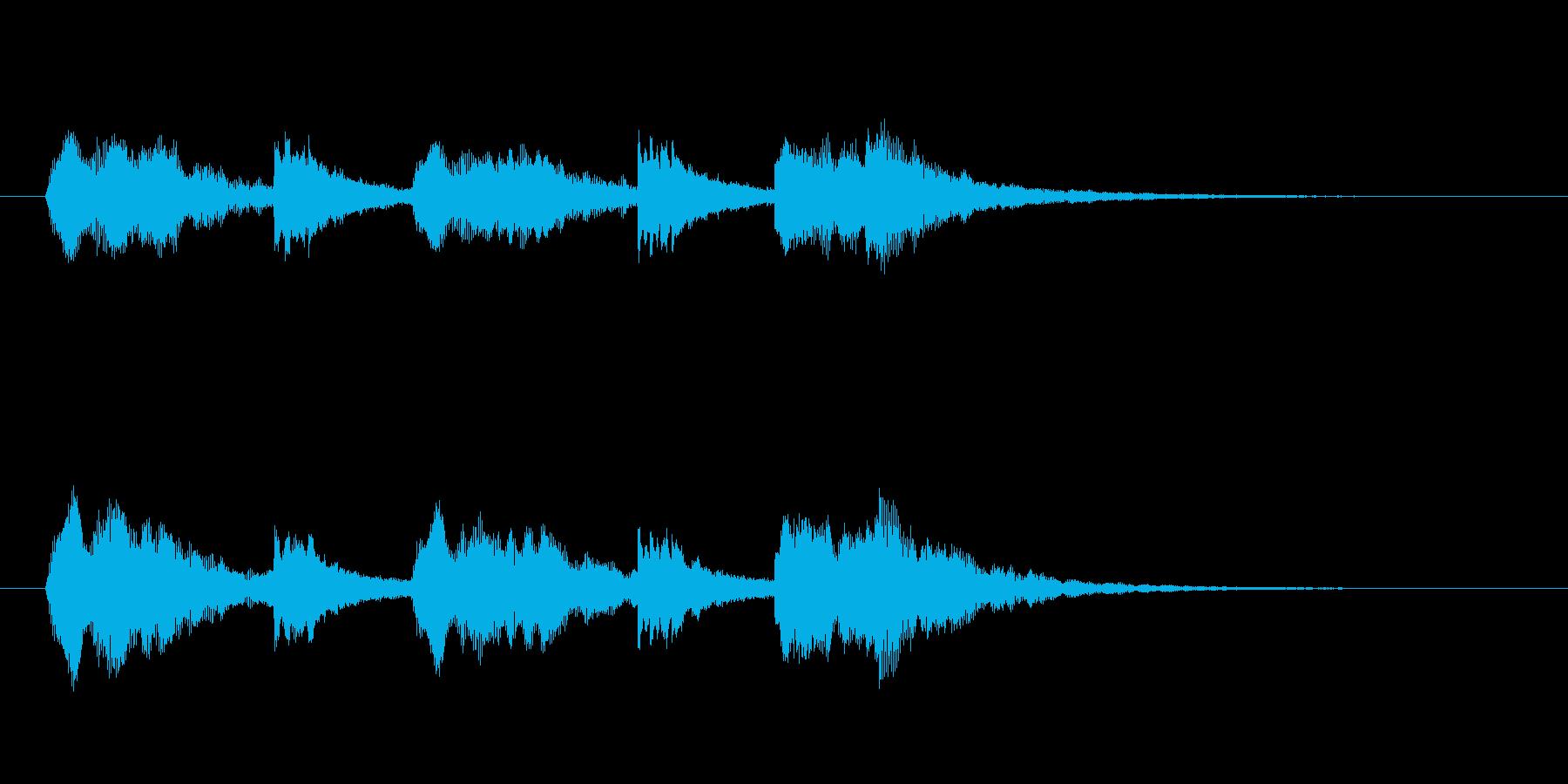 コーラスと鉄琴のアンサンブルの再生済みの波形