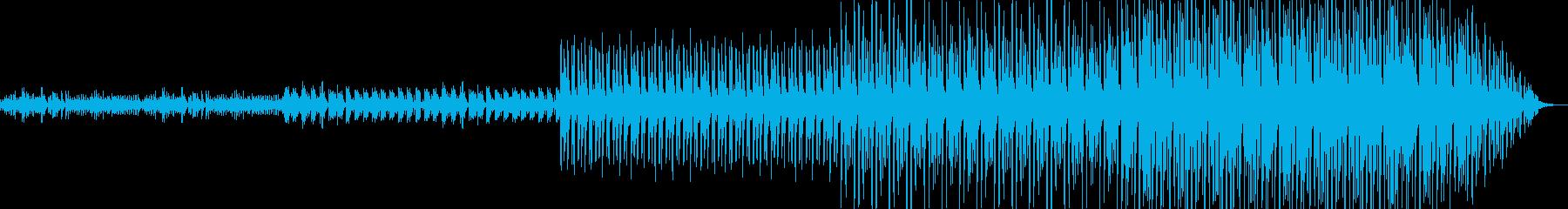 徐々に盛り上がるR&B.EDMの再生済みの波形