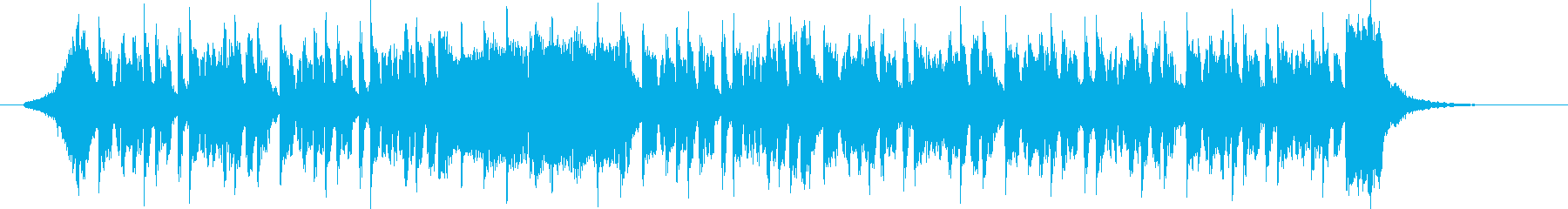 グルーヴィでクールなテクノミュージックの再生済みの波形