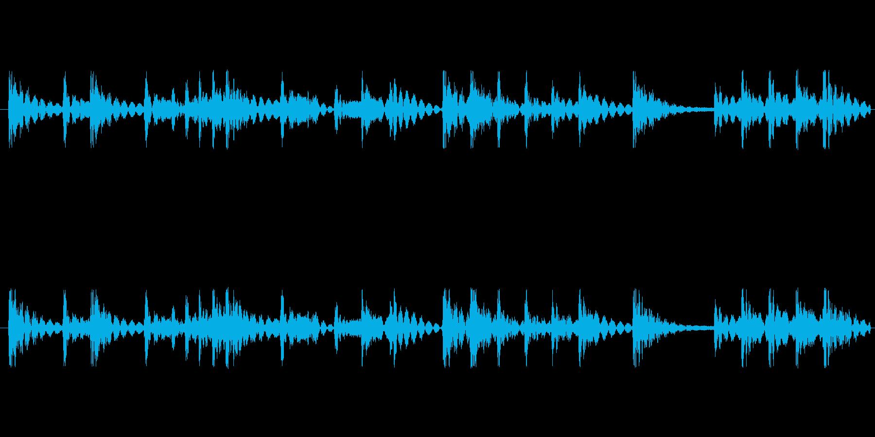 和太鼓リズムのみ音源のリバーブなし音源…の再生済みの波形