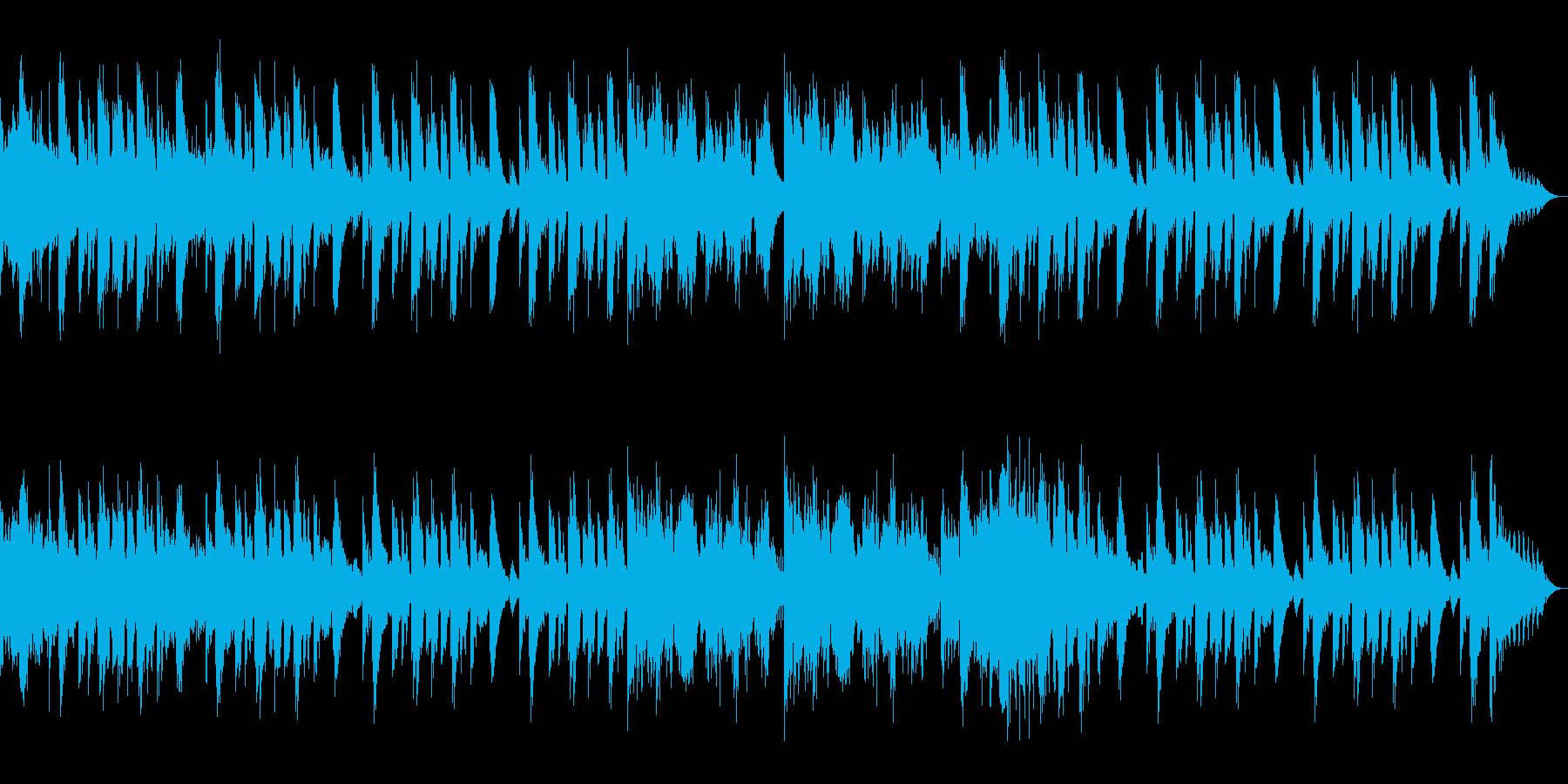 ゲームの戦闘に合いそうなロック曲の再生済みの波形