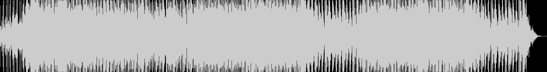 怪しげなリフが印象的なテクノBGMの未再生の波形