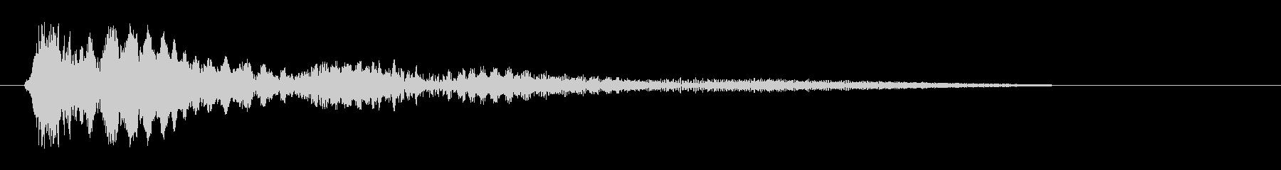 ピチョーン(はねる効果音)の未再生の波形