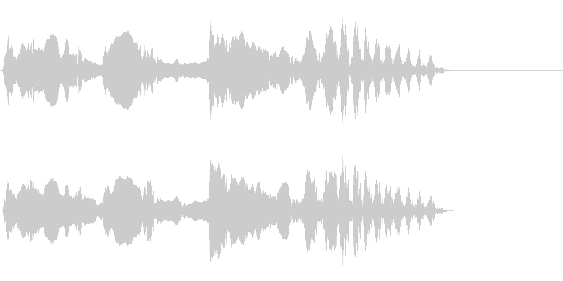 尺八 生演奏 古典風 残響音無 10の未再生の波形