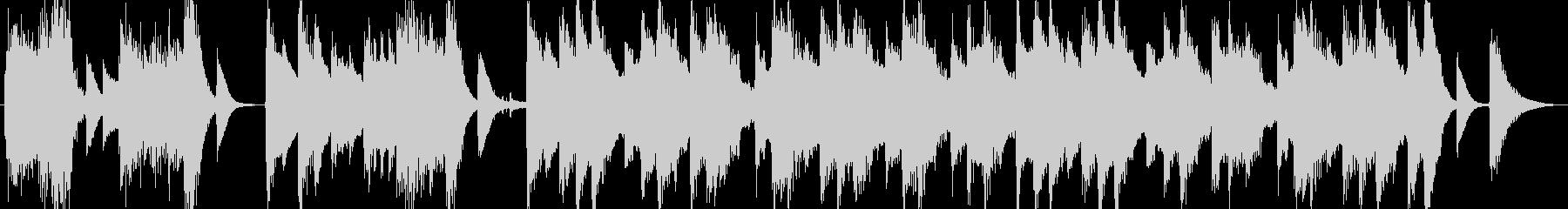 高音質♪レトロ風ピアノ曲出囃子ループの未再生の波形