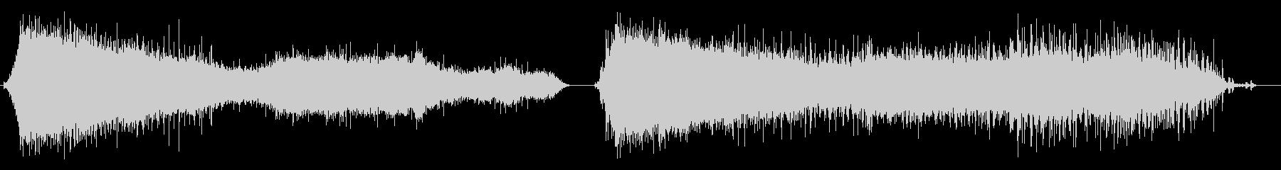 拍手、処理済み、2バージョン; D...の未再生の波形