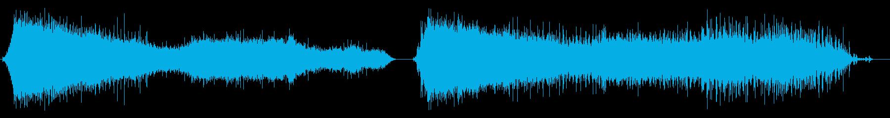 拍手、処理済み、2バージョン; D...の再生済みの波形