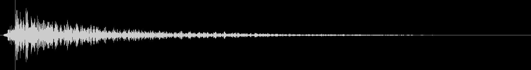 【打楽器】 衝撃 どんっ・・・の未再生の波形