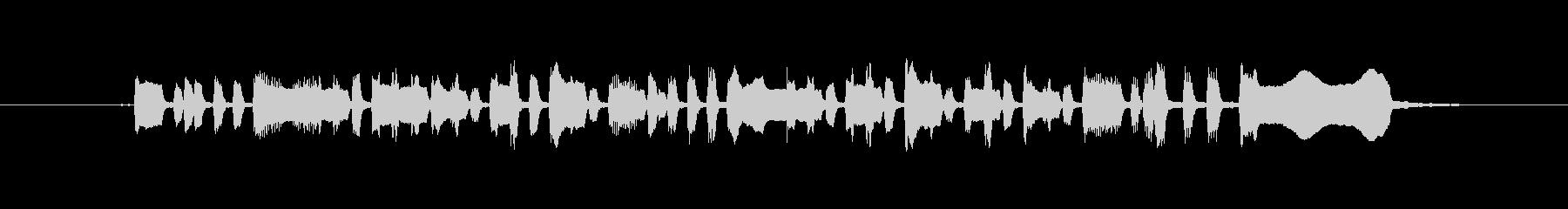 トランペットのファンファーレの未再生の波形
