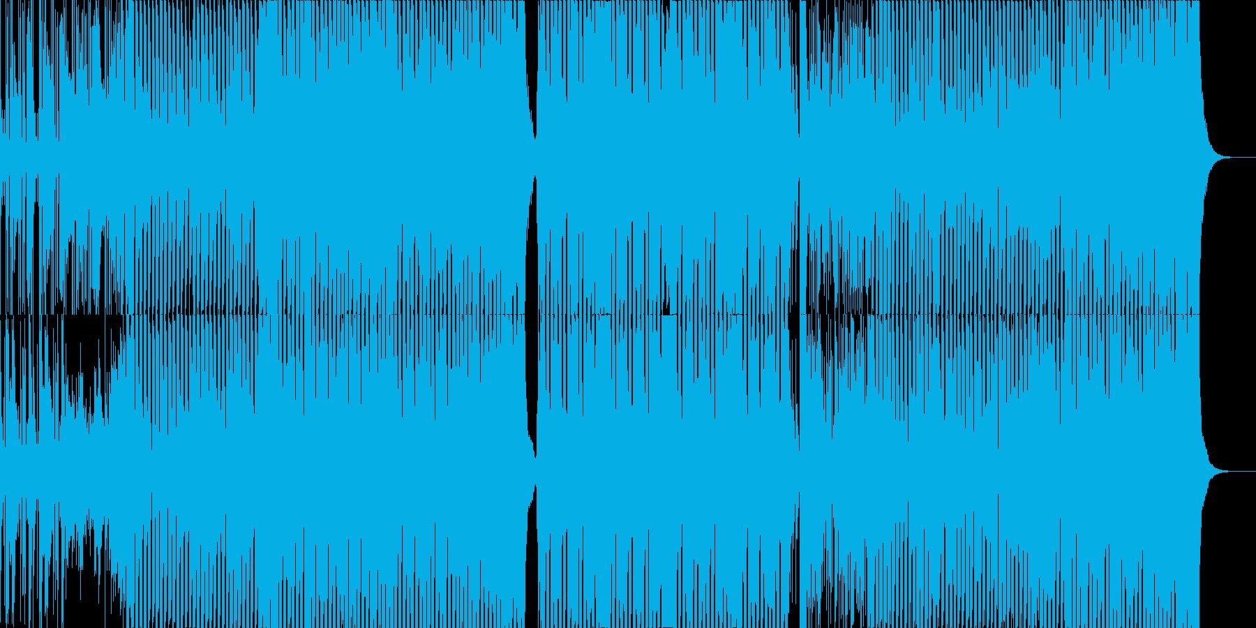 バリ島や南国イメージClubミュージックの再生済みの波形