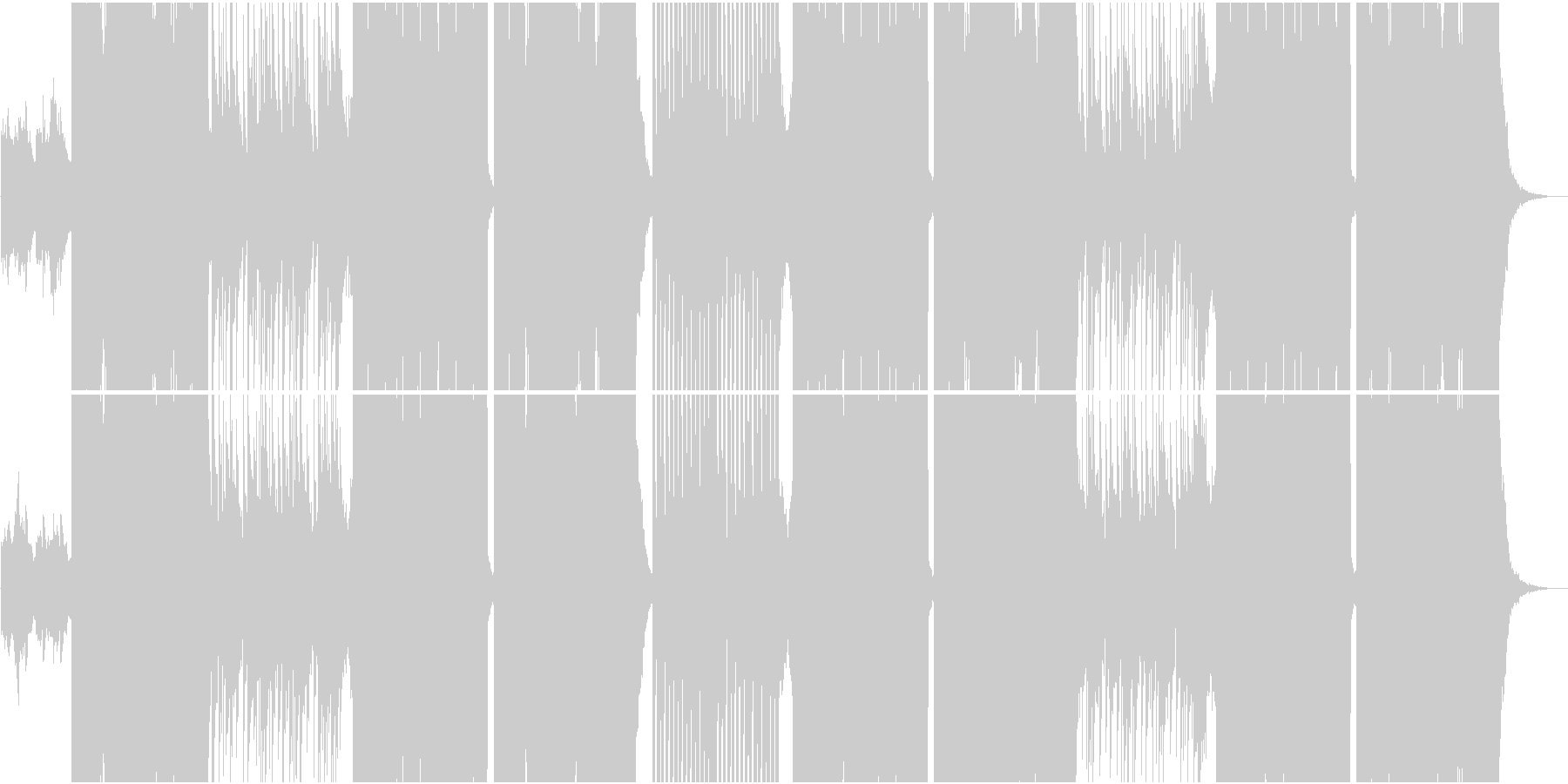 ポップでダンサブルなFuture Basの未再生の波形