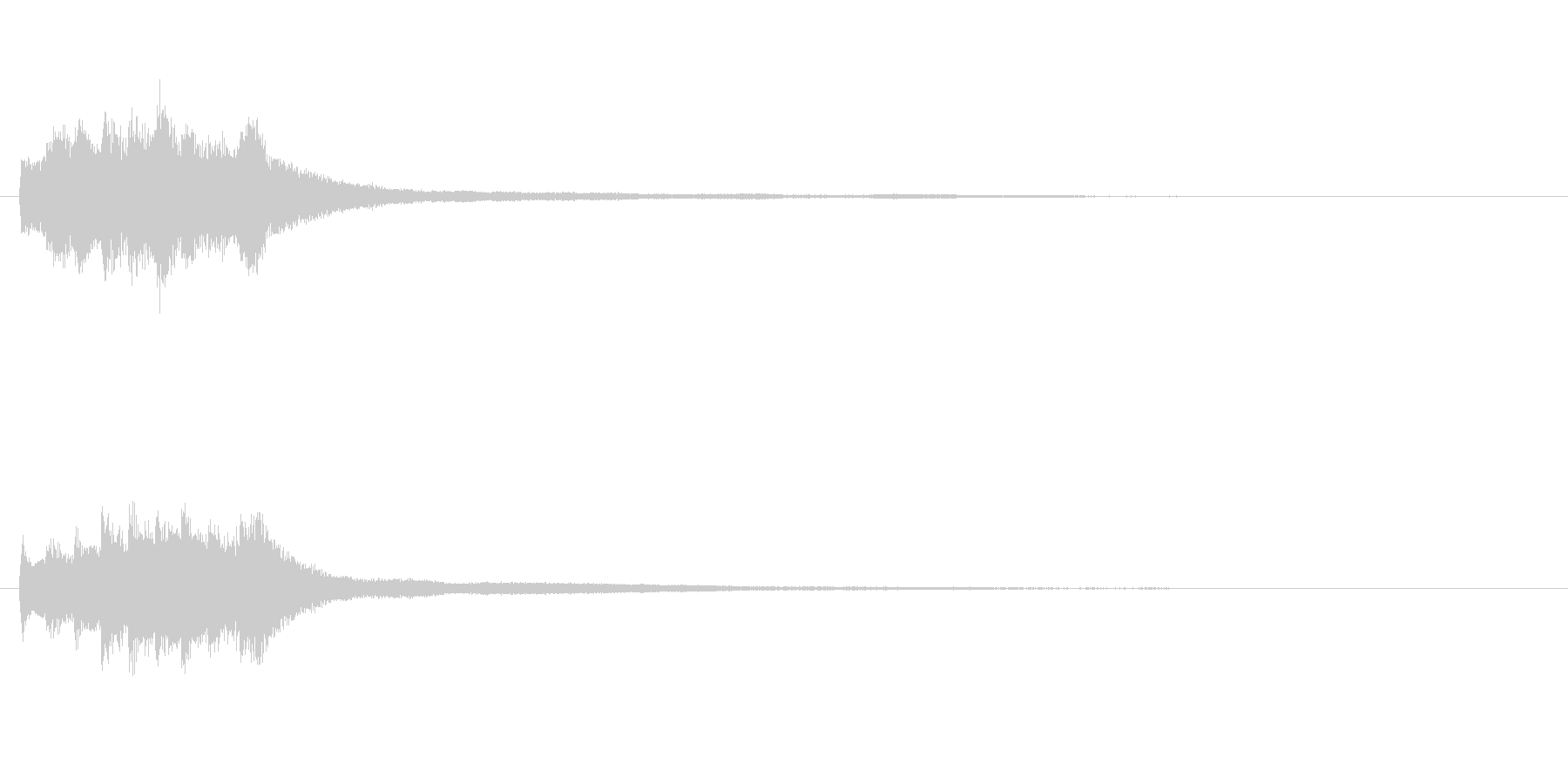 アテンション向きのメロディ(中くらい)の未再生の波形