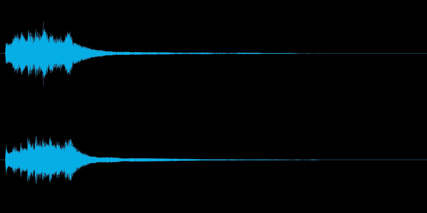 アテンション向きのメロディ(中くらい)の再生済みの波形