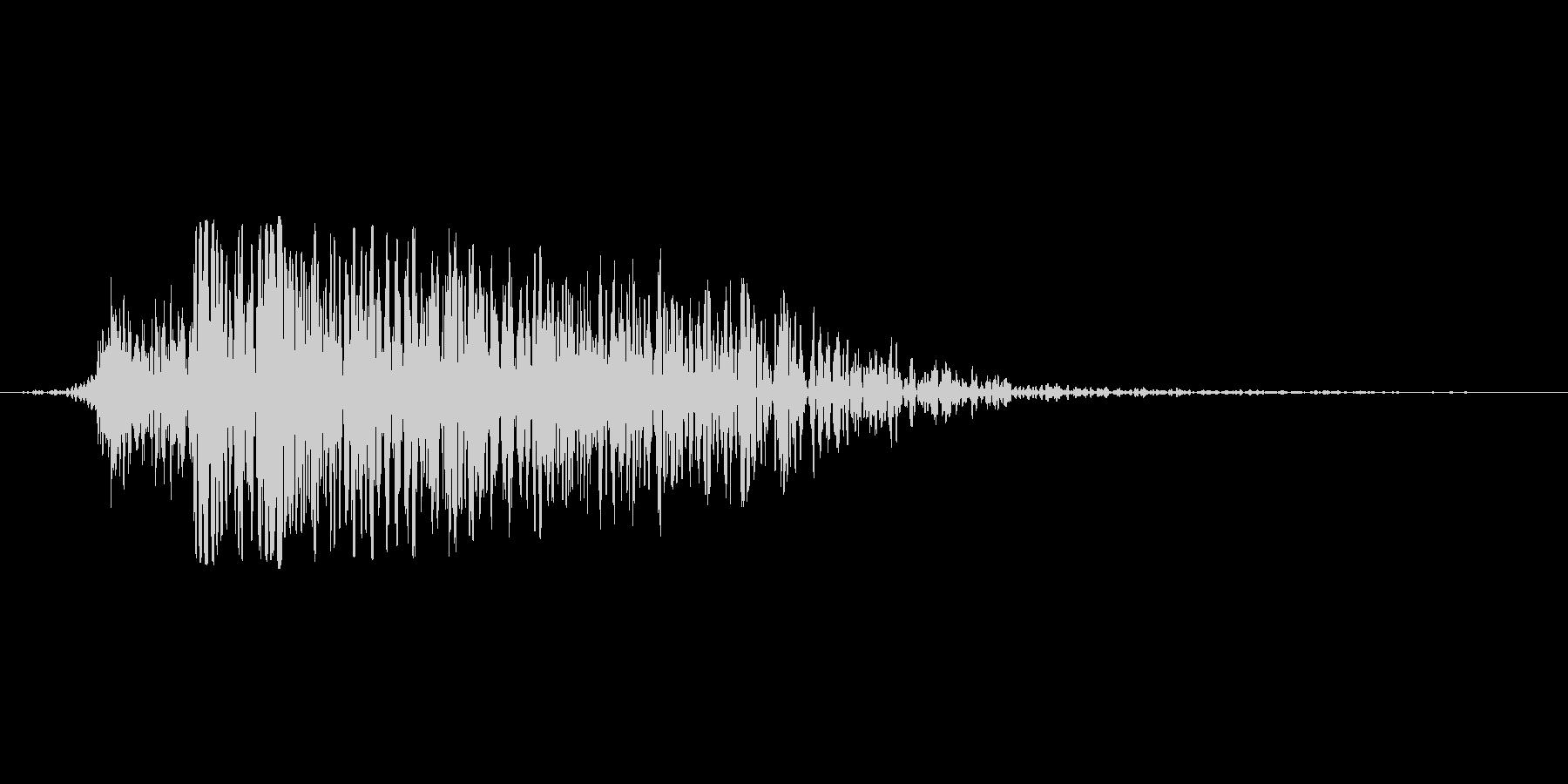 演出音(敵が消滅)の未再生の波形