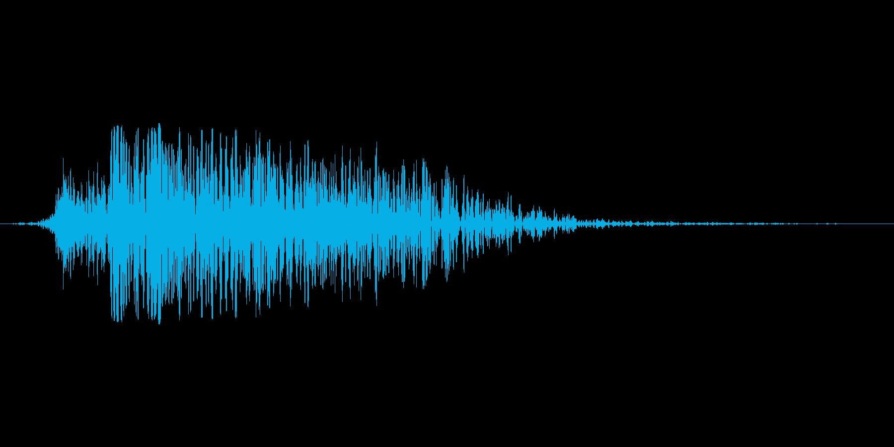演出音(敵が消滅)の再生済みの波形