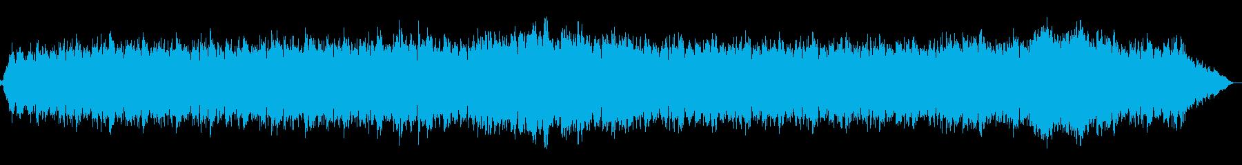 リバーブとディレイギターサウンドの再生済みの波形